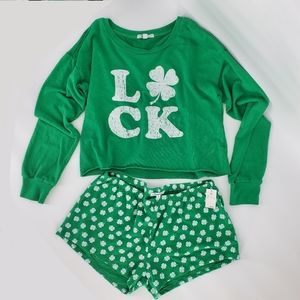 NWT Grayson threads luck pajama set shorts crop